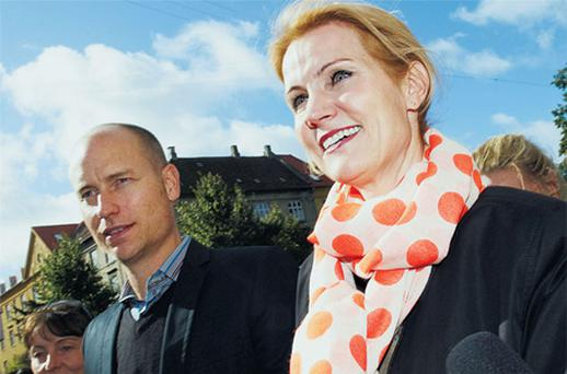 Helle Thorning-Schmidt with her husband, Stephen Kinnock. Photo: Getty Images