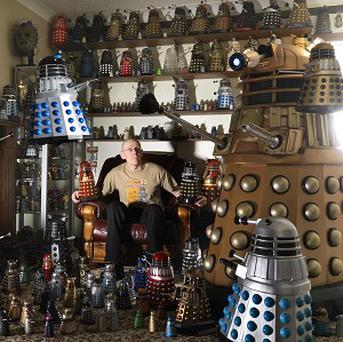 Rob Hull is the owner of the largest collection of Daleks which is featured in the new Guinness World Records book