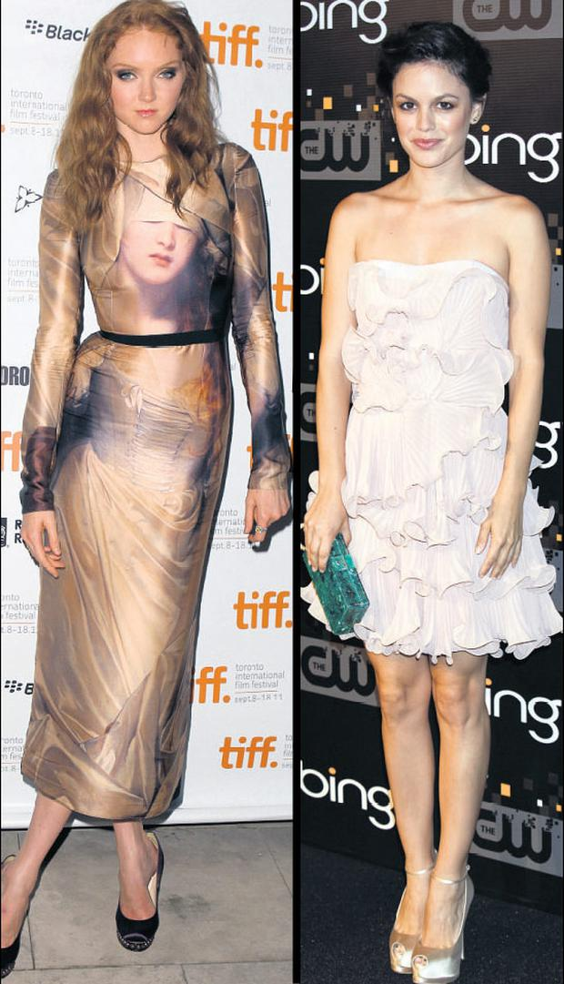 From left Lily Cole and Rachel Bilson