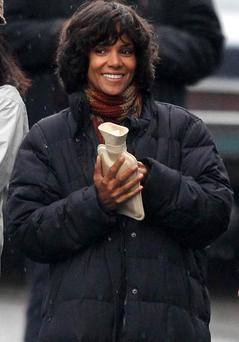 Halle Berry on set in Glasgow