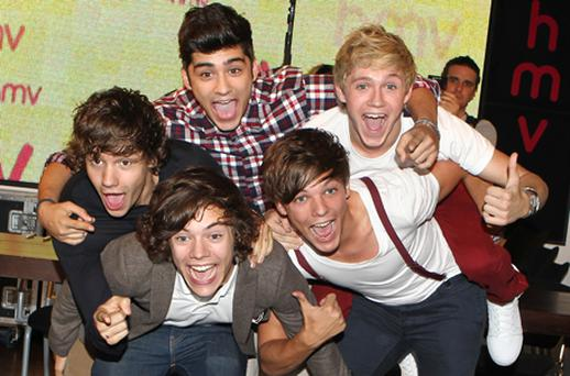 One Direction are heading for this week's number one slot in the UK singles chart. Photo: Getty Images