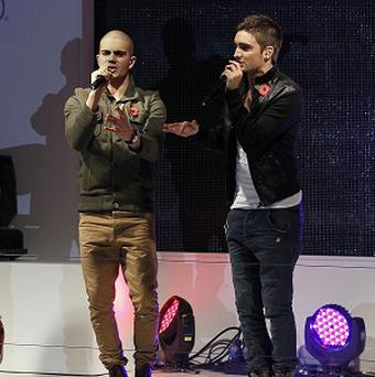 The Wanted on stage