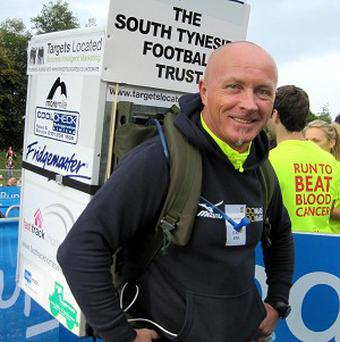 Tony Phoenix-Morrison ran the Great North Run with a fridge strapped to his back