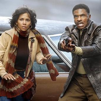 Halle Berry and Keith David on the set of their new film Cloud Atlas in Glasgow