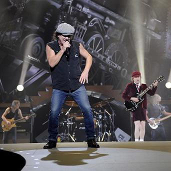 AC/DC lead singer Brian Johnson and lead guitarist Angus Young (AP)