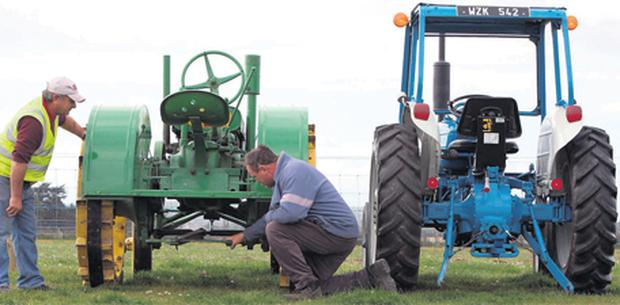 Old ones are the best: Michael Kirwan and Jim Ryan, Newcastle Vintage Club, Clonmel, check out Paul Hallahan's tractors in the Vintage section at the National Ploughing Championships