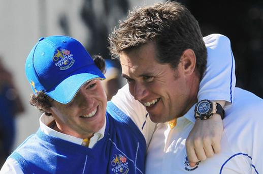 Rory McIlroy and Lee Westwood. Photo: Getty Images