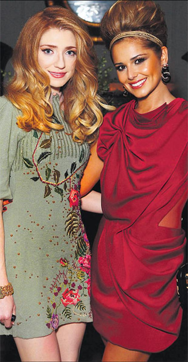 Nicola Roberts and Cheryl Cole