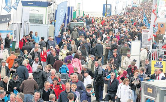 Some of the 71,000-strong crowd at the National Ploughing Championships