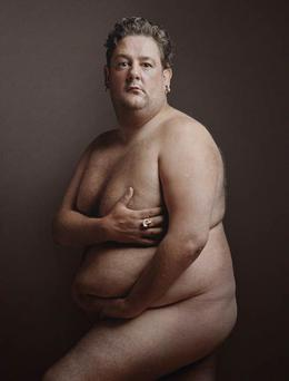 Johnny Vegas as Demi Moore by Karl J. Kaul, as part of a display charting 70 years of British comedy heroes at the National Gallery, London.