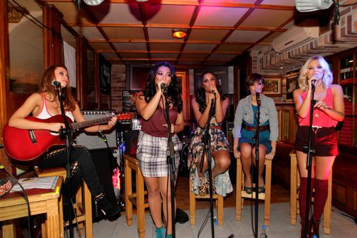 22/9/11The Saturdays playing at the Oliver St Gogarty, part of the Arthur's Day celebrations in Dublin. Picture: Arthur Carron/Collins