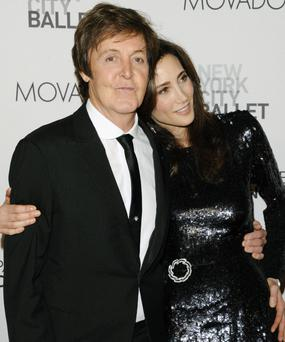 Sir Paul McCartney and fiance Nancy Shevell attend the New York City Ballet's gala opening night of Paul McCartney's