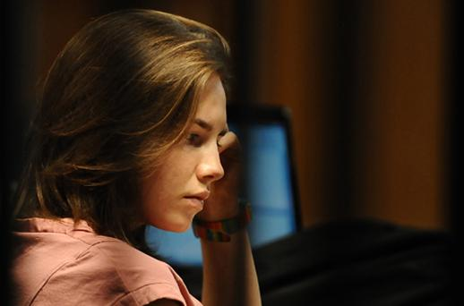Amanda Knox in court today. Photo: Getty Images