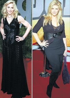 From left: Madonna and Kirstie Alley