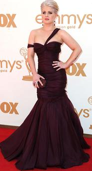 Kelly Osbourne on the red carpet at the Emmys