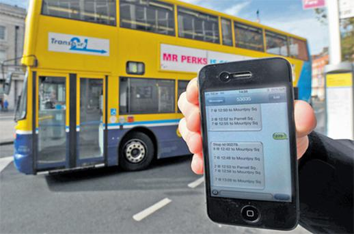 The new Dublin Bus web, text and smartphone app service allows passengers to check when the next bus is due at any stop in the capital