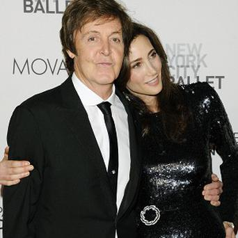 Sir Paul McCartney and fiance Nancy Shevell attend the premiere of his ballet score