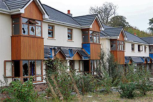 The finished houses on the Coill naGluise development in Gorey, Co Wexford have been targeted by vandals