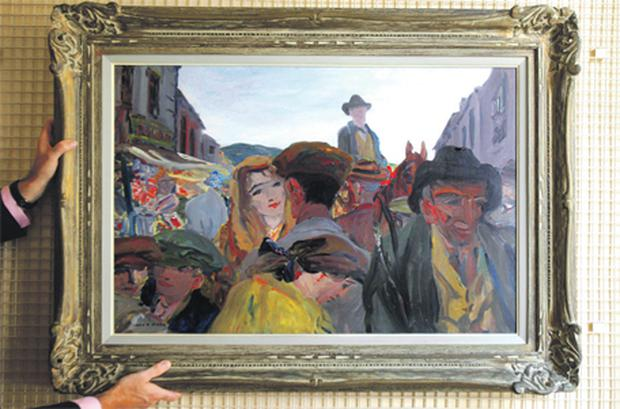 'A Fair Day, Mayo', by Jack B Yeats, once hung in the Suffolk Place offices of Eamon de Valera when he was leader of the newly formed Fianna Fail party