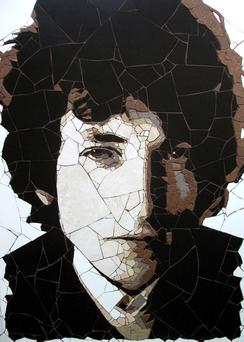 Handout photo issued by artist Ed Chapman of a mosaic of Bob Dylan, created by himself, which is to be auctioned for a charity set up in honour of football hero Bobby Moore. PRESS ASSOCIATION Photo. Issue date: Thursday September 29, 2011. See PA story ARTS Mosaic. Photo credit should read: Ed Chapman/PA Wire