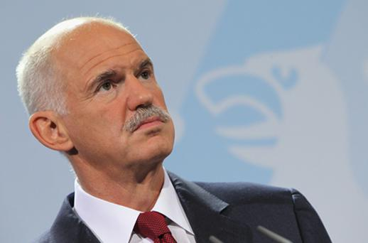 Greek Prime Minister George Papandreou. He will meet French President Nicolas Sarkozy as debt inspectors decide whether Greece is making enough progress with its austerity measures to receive the €8bn loan. Photo: Getty Images