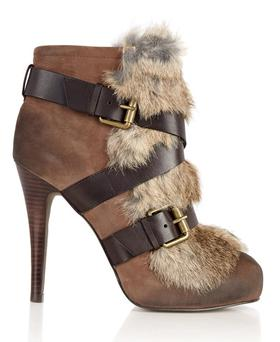 Emma Fur Buckle Boots by Ash