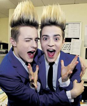 Jedward: hundreds of youngsters queued for hours yesterday for a chance to share centre stage with the pop twins