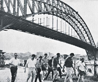 The Meath football team in Sydney, Australia, on their historic 1968 tour