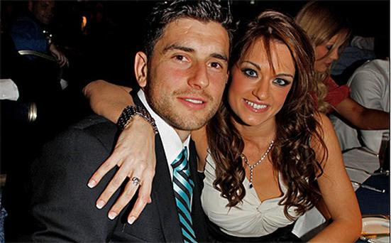 Dublin footballer Bernard Brogan and girlfriend Leslie Walsh. Photo: John Dardis