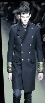 Call to arms: The Burberry Prorsum collections had a real army feel