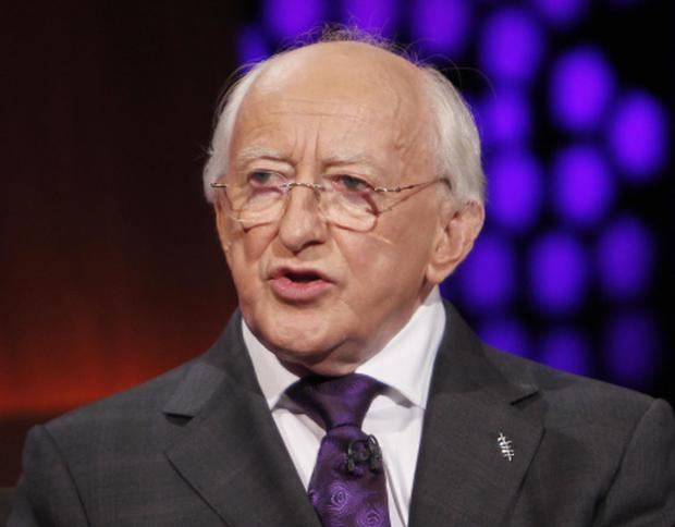 Michael D Higgins pictured on The Late Late Show in 2011