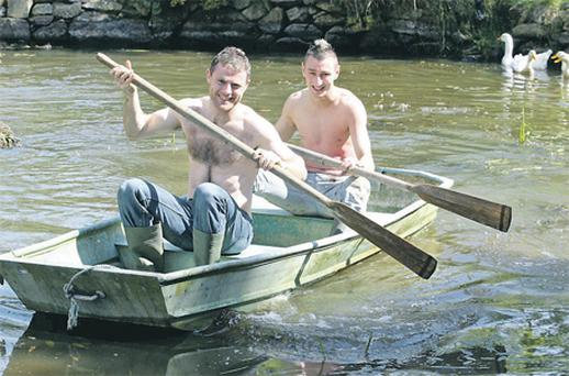 Stephen Fitzgerald, Mr November, and Donnagh Heffernan, Mr October, in the Irish Farmer Calendar