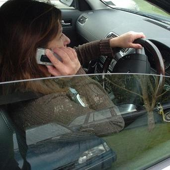 A number of motorists were caught using mobile phones during a crackdown on distracted drivers by police in Hampshire