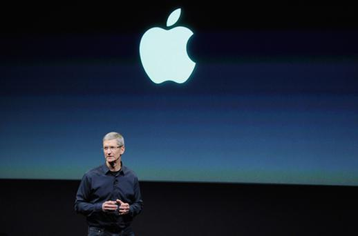 Tim Cook, Apple's new CEO, introduced the event, telling the small audience: 'I love Apple [...] and I am very excited about this new role'. Photo: Getty Images