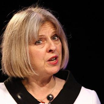 It was thought Home Secretary Theresa May walked off stage to Primal Scream's Rocks, but it turned out to be a different song