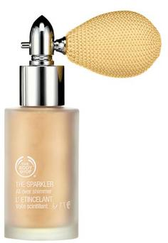 Limited edition sparkler in gold by the Body Shop