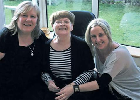 Loving family: Connie centre, with daughters Jackie and Yvonne