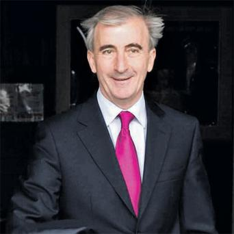 Fine Gael's presidential hopeful Gay Mitchell leaves RTE studios yesterday after being interviewed on 'This Week'