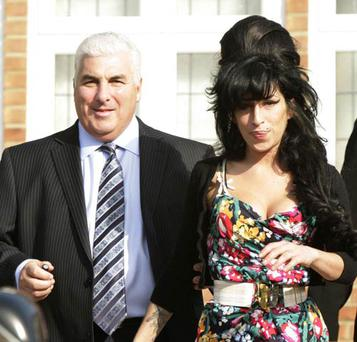 Mitch Winehouse with his daughter Amy