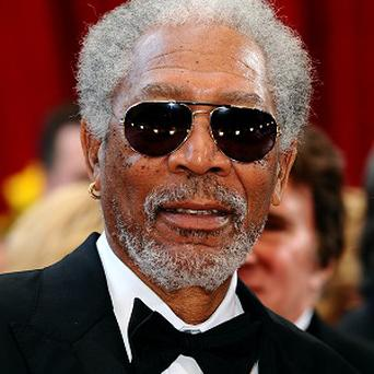 Morgan Freeman was happy to be upstaged by a dolphin