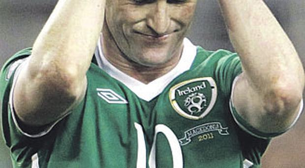 Trapattoni said Robbie Keane was out of contention for tonight's match