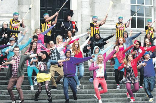 Dancers rehearse at Trinity College Dublin