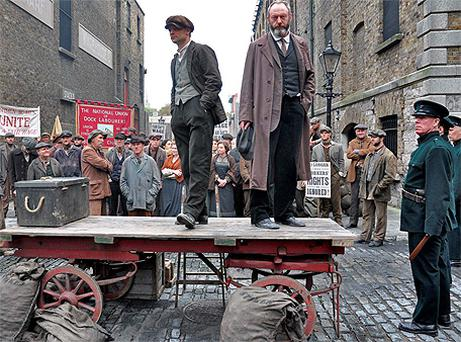 Scenes from the filming of TV mini-series 'Titanic - Blood and Steel' at James's Gate, Dublin