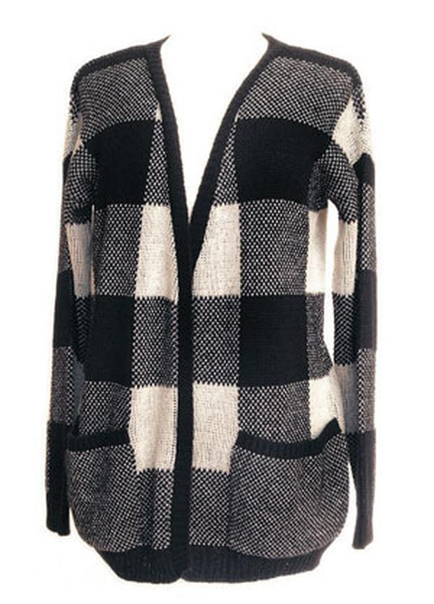 Black-and-white cardigan, €34.99, New Look