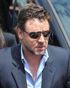 CANNES, FRANCE - MAY 12: Russell Crowe sighting as he arrives at the Palais de Festivals on May 12, 2010 in Cannes, France. (Photo by David Thompson/FilmMagic)