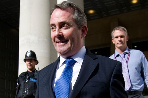 Liam Fox, who has denied he had anything to hide today amid claims journalists were misled about the circumstances of a burglary at his home. Photo: Getty Images
