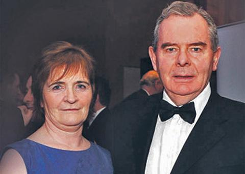 Sean Quinn (left) with his wife Patricia