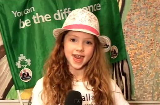 Schoolgirl Zena composed, choreographed and recorded the song. Photo: YouTube