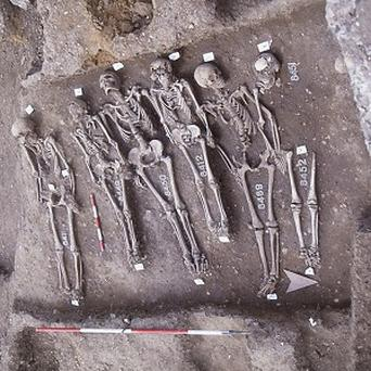 The skeletons of victims of the Black Death in east London were used to study the DNA of the disease bacteria