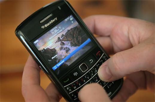 BlackBerry services went down on Monday and, apart from a brief period on Tuesday morning, have been down since then. Photo: Getty Images